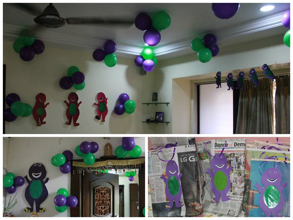 3rd Barney theme birthday party