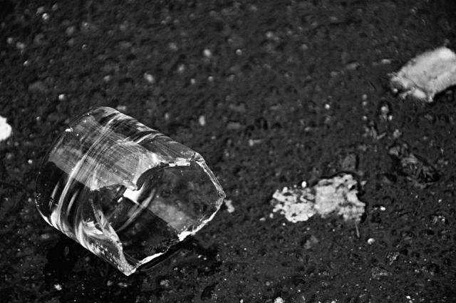 a broken glass..and .a child's heart
